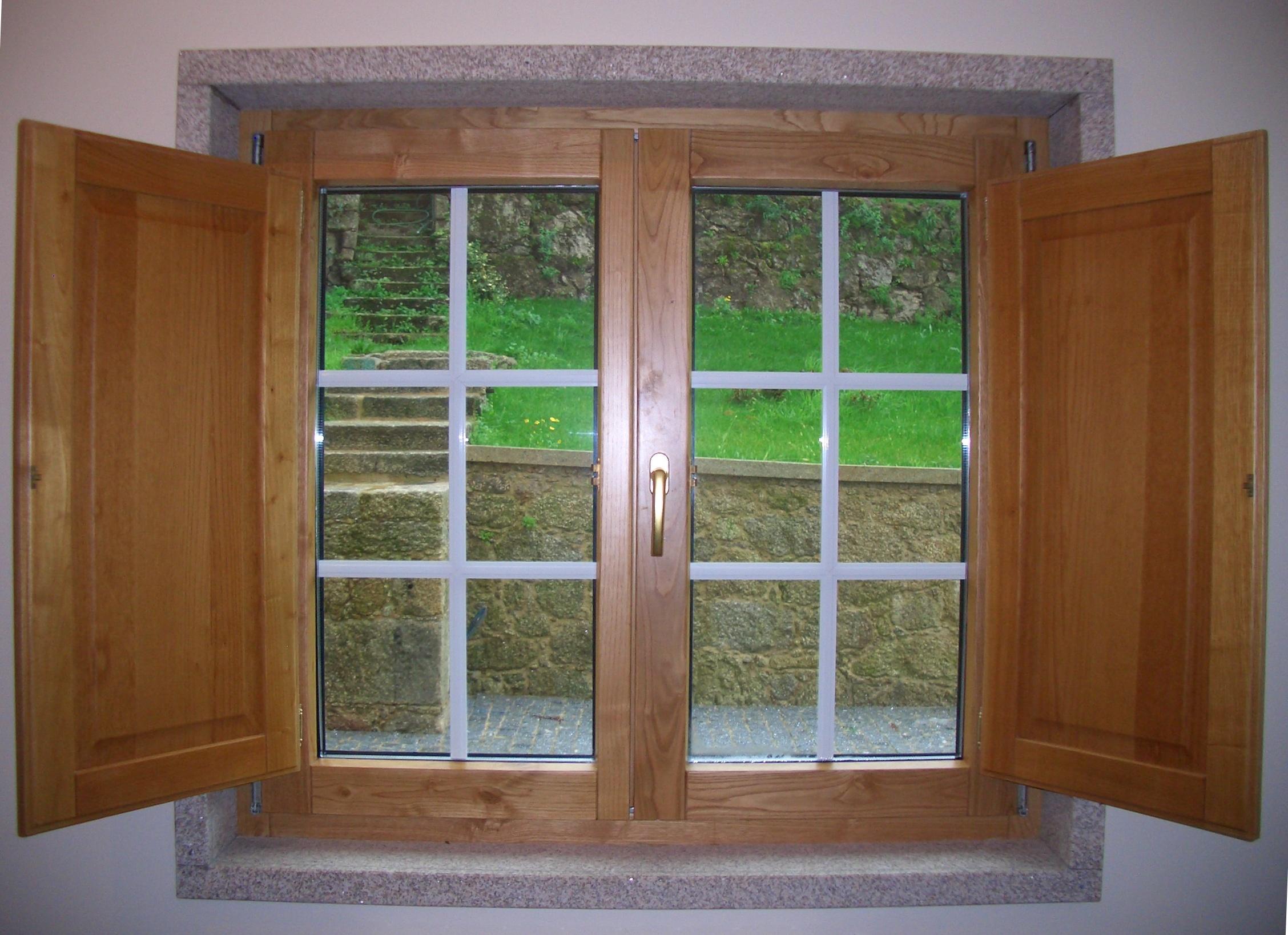 #6C4324 MADEIRA ALUMNIO janela madeira alumnio c/ portadas interiores janela  554 Janelas Em Aluminio Para Quarto